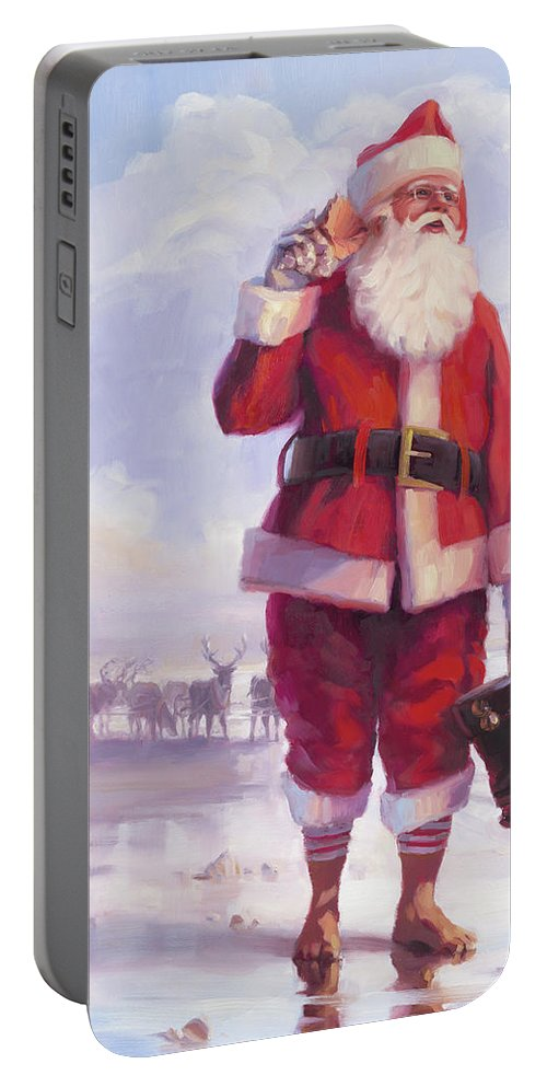 Christmas Portable Battery Charger featuring the painting Taking a Break by Steve Henderson