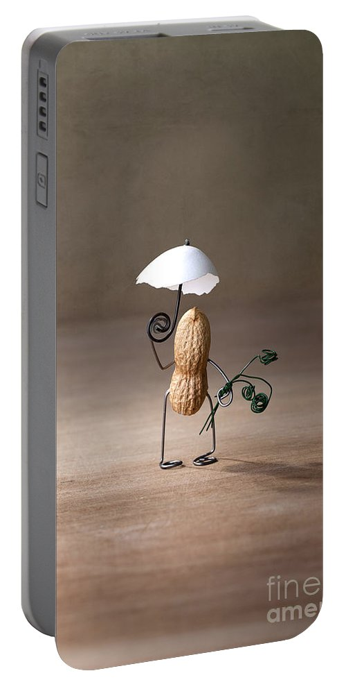Peanut Portable Battery Charger featuring the photograph Taking A Walk 01 by Nailia Schwarz