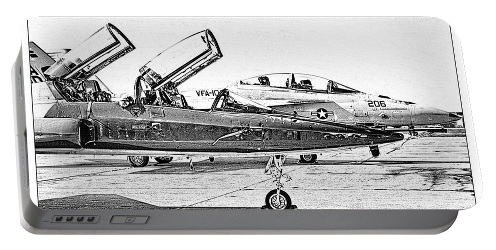 T38 Portable Battery Charger featuring the photograph Talon Vs. Hornet by Ricky Barnard