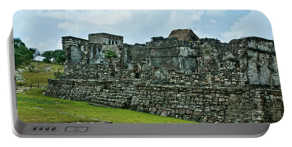 Tulum Ruins Portable Battery Charger featuring the photograph Talum Ruins 3 by Douglas Barnett