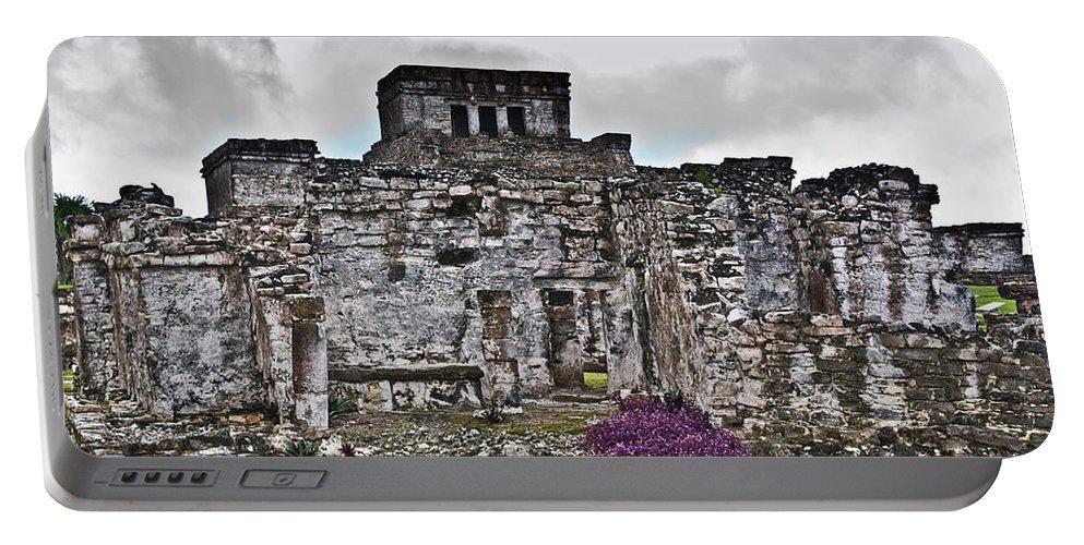 Tulum Ruins Portable Battery Charger featuring the photograph Talum Ruins 6 by Douglas Barnett