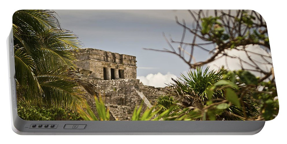 Tulum Ruins Portable Battery Charger featuring the photograph Talum Ruins 9 by Douglas Barnett