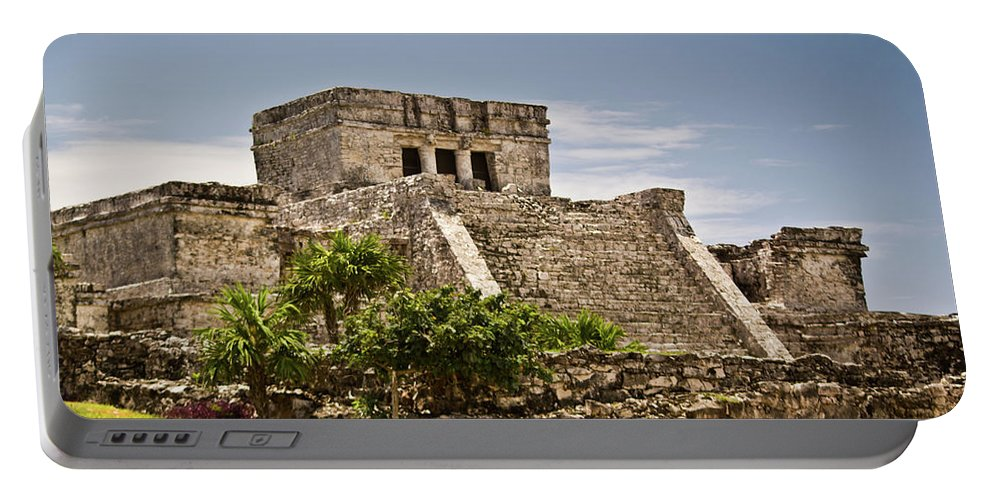Tulum Ruins Portable Battery Charger featuring the photograph Talum Ruins10 by Douglas Barnett