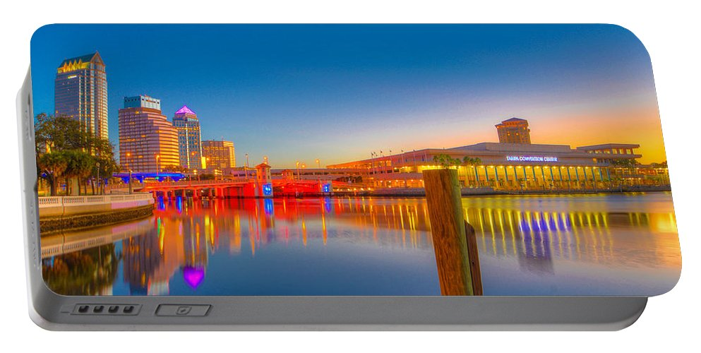 Tampa Bay Portable Battery Charger featuring the photograph Tampa Sunrise by Lance Raab