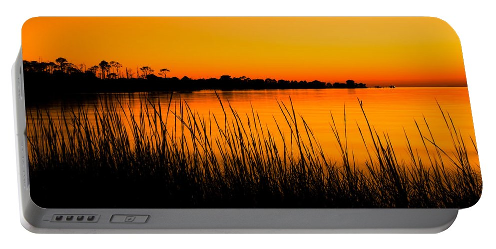 Beach Portable Battery Charger featuring the photograph Tangerine Sunset by Rich Leighton