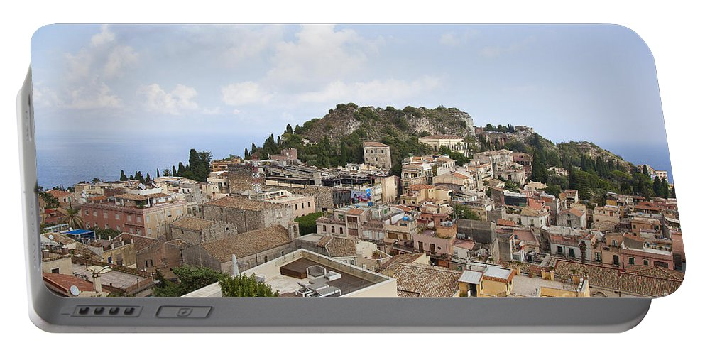 Portable Battery Charger featuring the photograph Taormina View II by Madeline Ellis