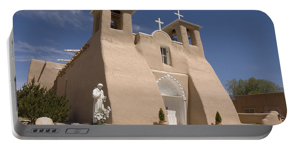 Church Portable Battery Charger featuring the photograph Taos Landmark by Jerry McElroy