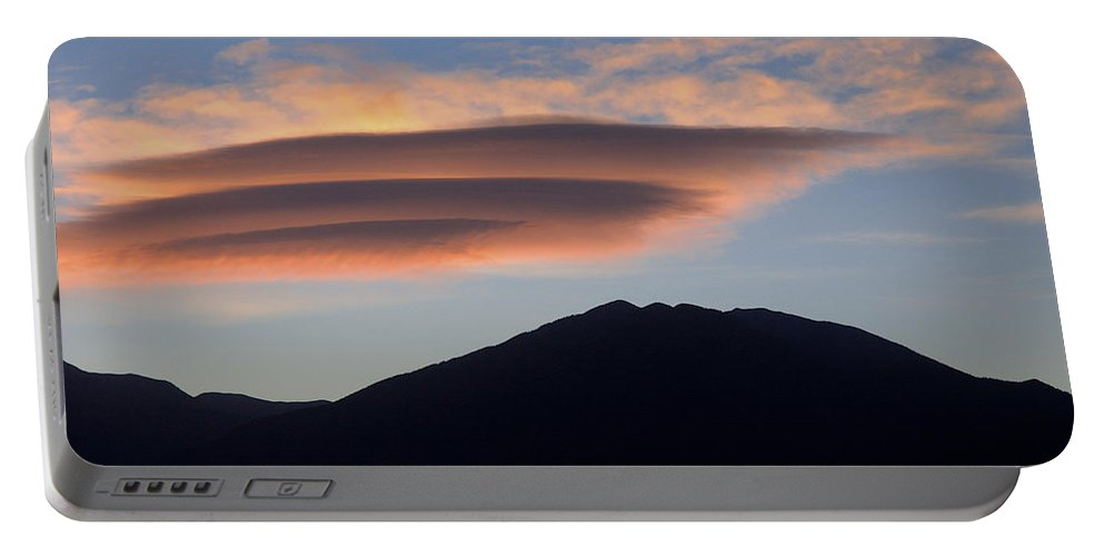 Taos Portable Battery Charger featuring the photograph Taos Sunset by Jerry McElroy