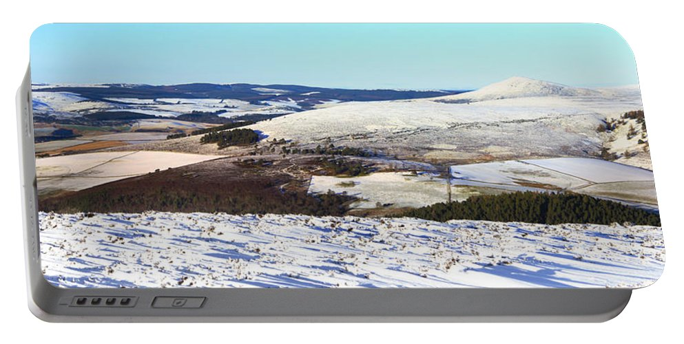 Scottish Portable Battery Charger featuring the photograph Tap O'noth Panorama by Beate Allerton