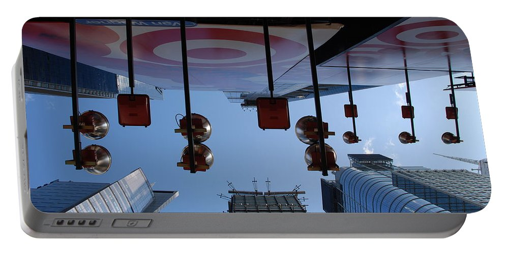 Architecture Portable Battery Charger featuring the photograph Target Lights by Rob Hans