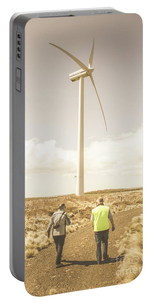 Turbine Portable Battery Charger featuring the photograph Tasmania Turbine Tours by Jorgo Photography - Wall Art Gallery