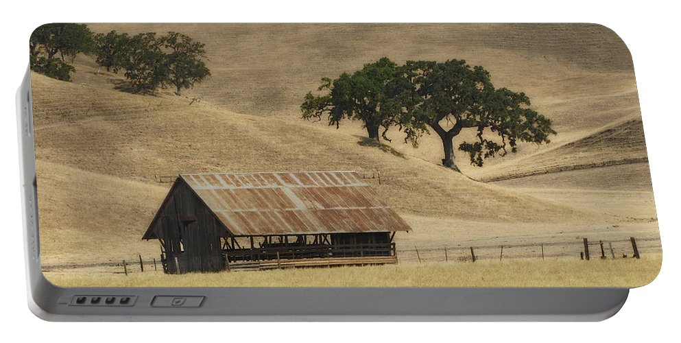Landscapes Portable Battery Charger featuring the photograph Tassajara Road by Karen W Meyer