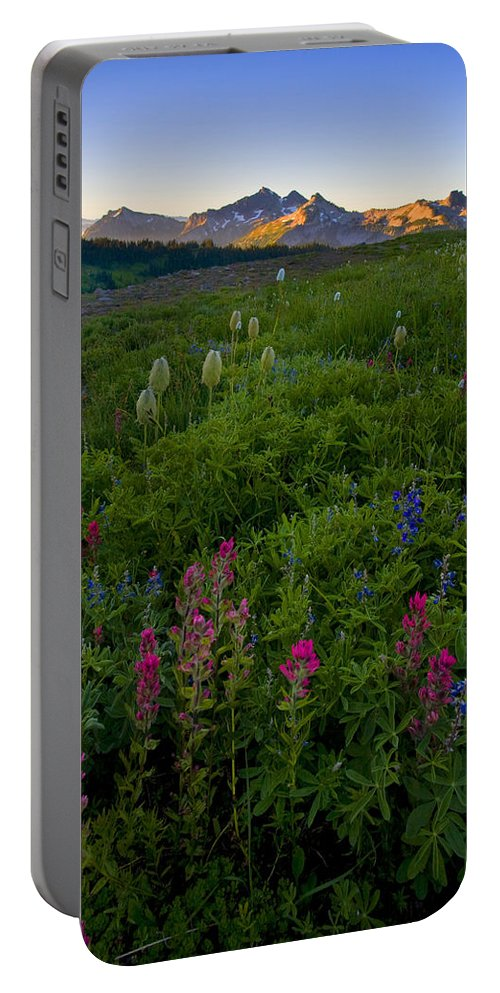 Dawn Portable Battery Charger featuring the photograph Tatoosh Dawn by Mike Dawson
