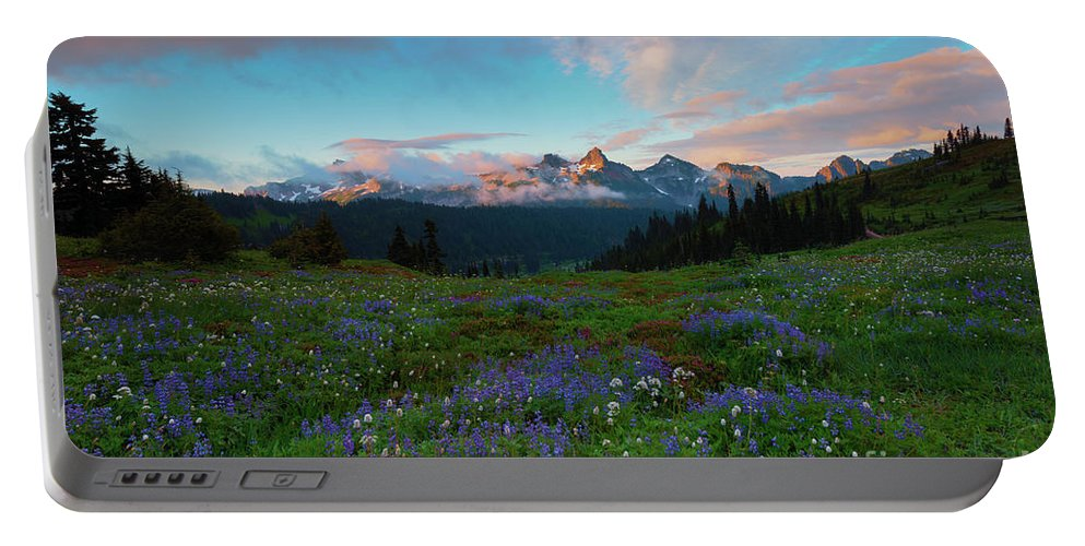 Tatoosh Portable Battery Charger featuring the photograph Tatoosh Dawning by Mike Dawson