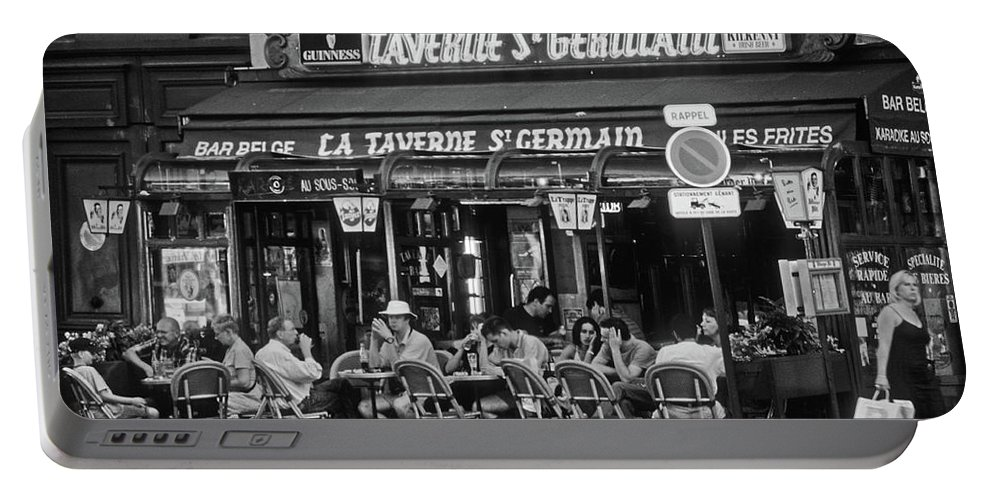 Frank Dimarco Portable Battery Charger featuring the photograph Taverne St. Germain, Paris by Frank DiMarco