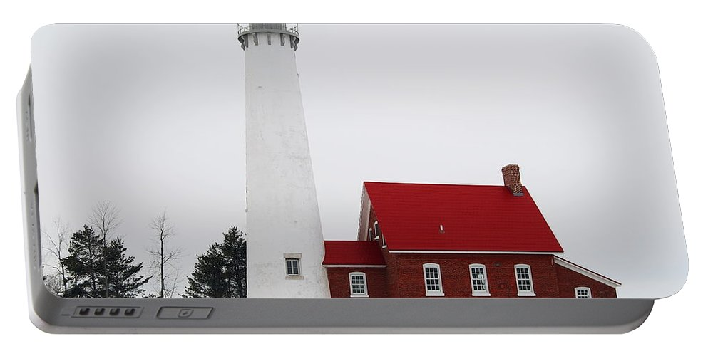 Tawas Point Lighthouse Portable Battery Charger featuring the photograph Tawas Point Lighthouse 2 by Michael Peychich