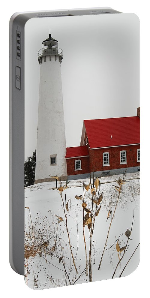 Tawas Point Lighthouse Portable Battery Charger featuring the photograph Tawas Point Lighthouse by Michael Peychich