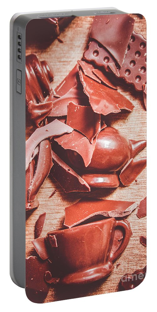 Chocolate Portable Battery Charger featuring the photograph Tea Break by Jorgo Photography - Wall Art Gallery