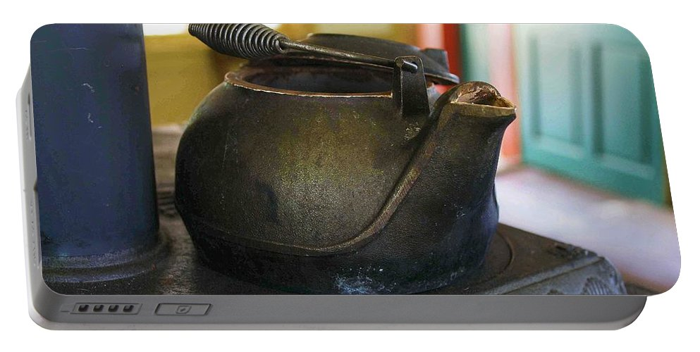 Tea Kettle Portable Battery Charger featuring the photograph Tea Kettle by Nelson Strong