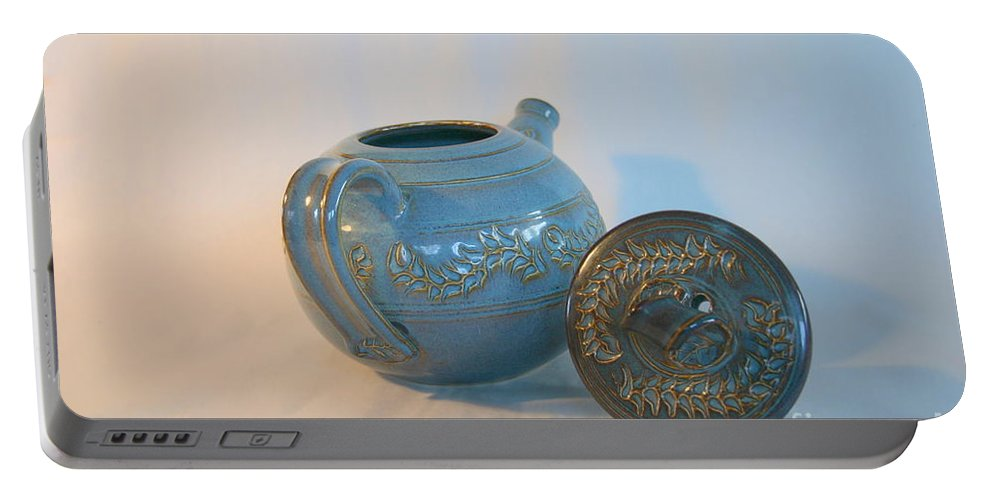 Tea Pot Portable Battery Charger featuring the photograph Tea Pot For Calming by Marie Neder