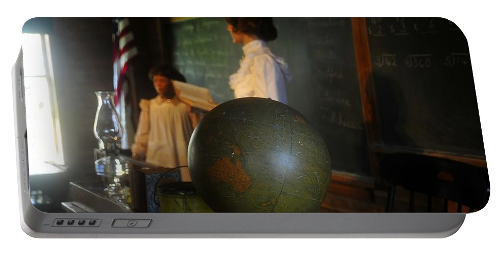 1800s Portable Battery Charger featuring the photograph Teaching Globe by David Lee Thompson