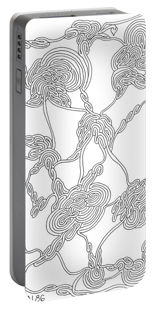 Mazes Portable Battery Charger featuring the drawing Tears Of Joy by Steven Natanson