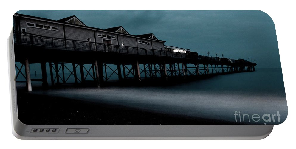 Teignmouth Portable Battery Charger featuring the photograph Teignmouth Pier At Dusk by Rob Hawkins