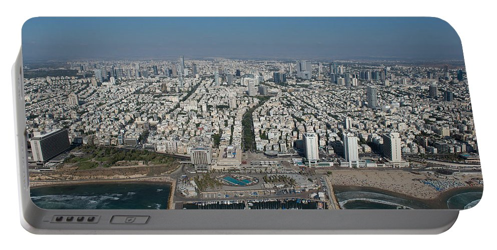 Tel Aviv Portable Battery Charger featuring the photograph Tel Aviv Marina by Dragonfly