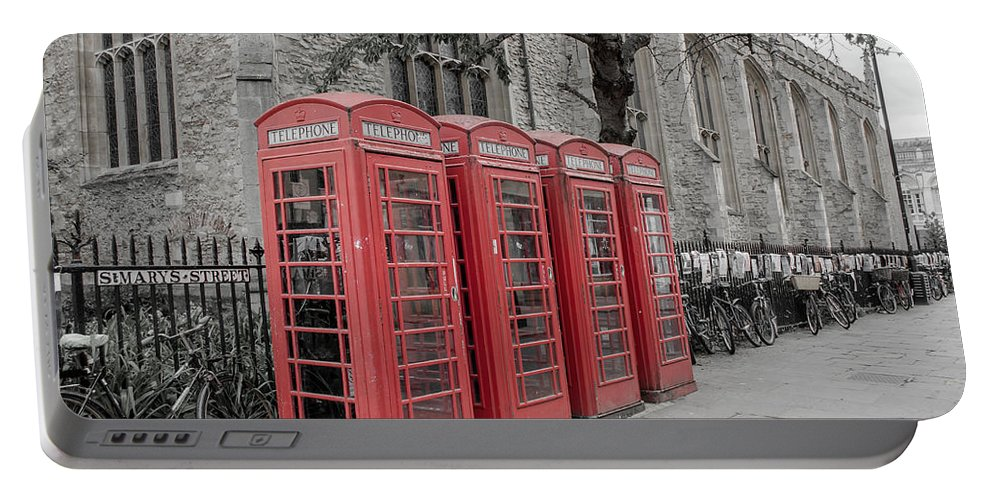 Phone Portable Battery Charger featuring the photograph Telephone Boxes by Shanna Hyatt