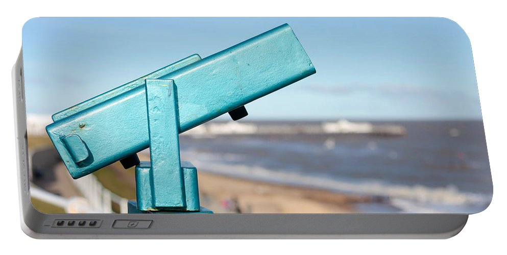 Beach Portable Battery Charger featuring the photograph Telescope by Tom Gowanlock