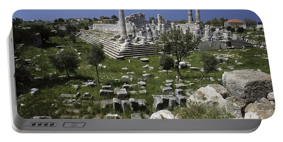 Turkey Portable Battery Charger featuring the photograph Temple Of Apollo by Michele Burgess