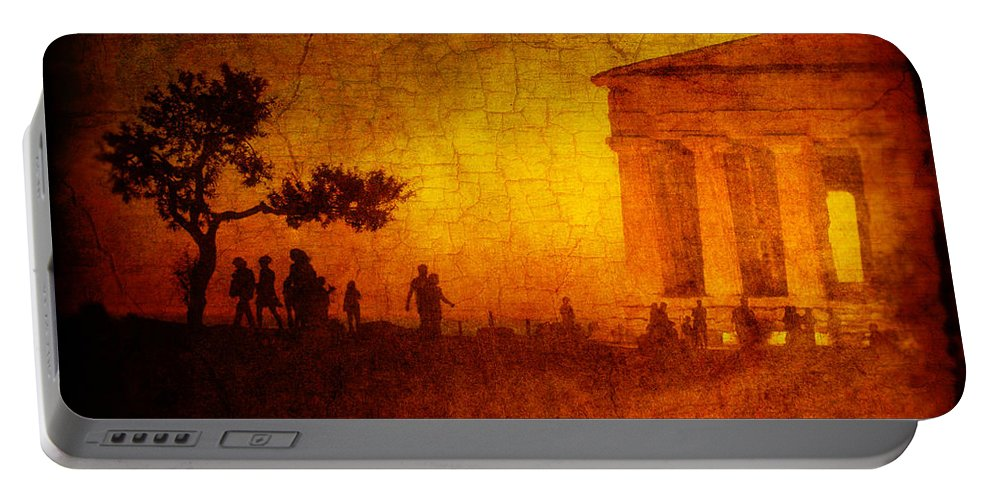 Temple Portable Battery Charger featuring the photograph Temple by Silvia Ganora