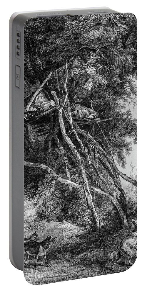 Temporary Portable Battery Charger featuring the photograph Temporary Tree Dwelling by Douglas Barnett