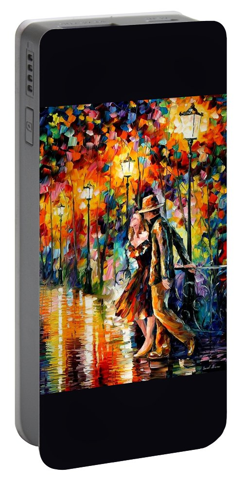 Scenery Portable Battery Charger featuring the painting Tempter by Leonid Afremov