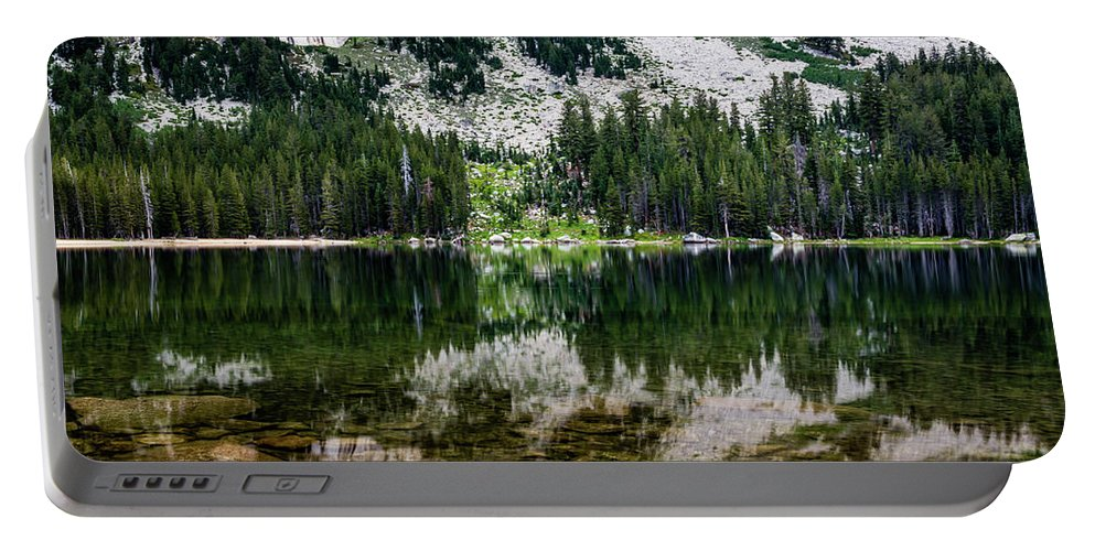 Landscape Portable Battery Charger featuring the photograph Tenaya Lake by Gary Migues
