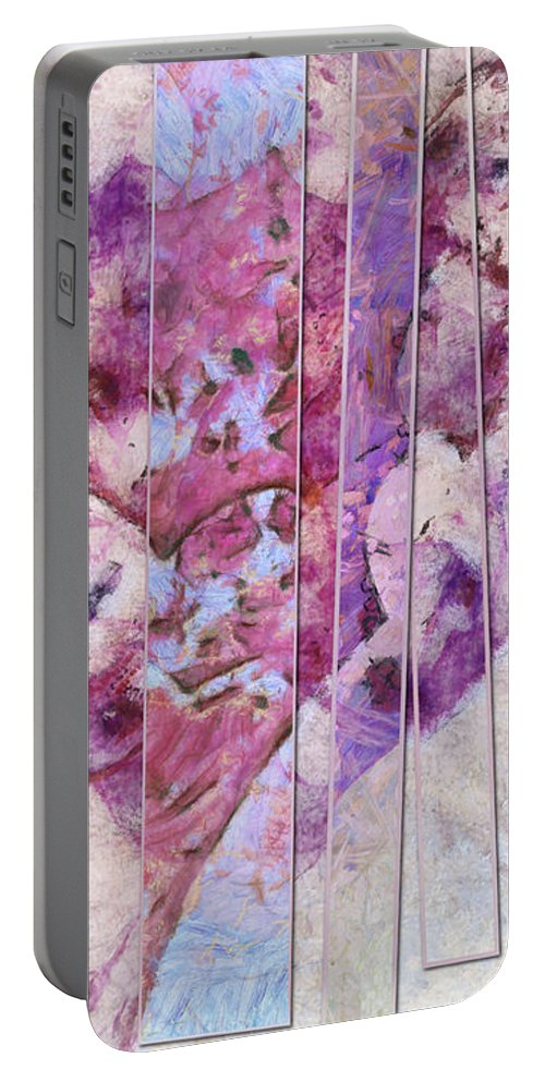 Imaginative Portable Battery Charger featuring the painting Tenorrhaphies Relation Id 16098-001445-06033 by S Lurk
