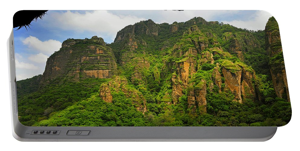 Skip Hunt Portable Battery Charger featuring the photograph Tepozteco by Skip Hunt