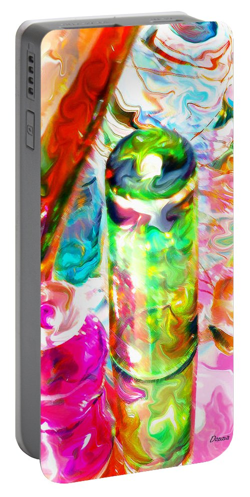 Glass Portable Battery Charger featuring the photograph Tequila Sunrise by Donna Blackhall