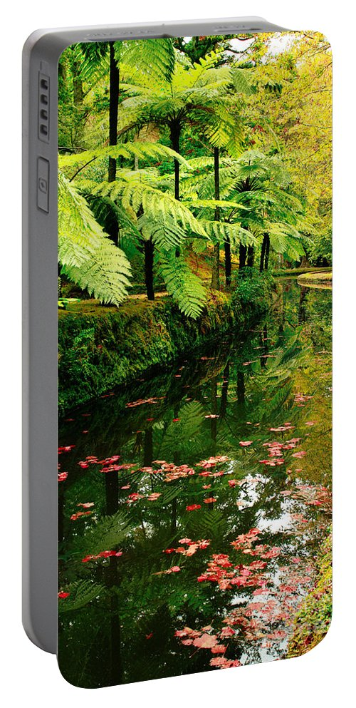 Azores Portable Battery Charger featuring the photograph Terra Nostra Park by Gaspar Avila