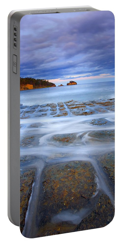 Sunset Portable Battery Charger featuring the photograph Tesselated Sunset by Mike Dawson