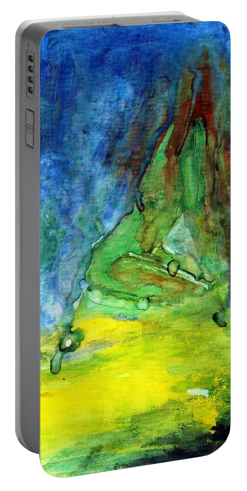 Energy Portable Battery Charger featuring the painting Test by Wojtek Kowalski