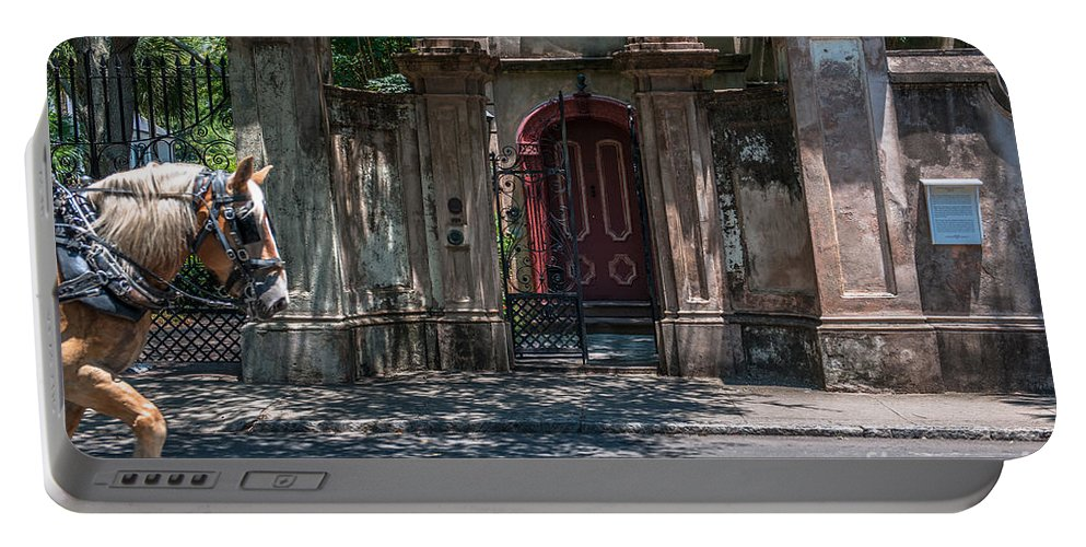 Red Door Portable Battery Charger featuring the photograph Colonial Past by Dale Powell