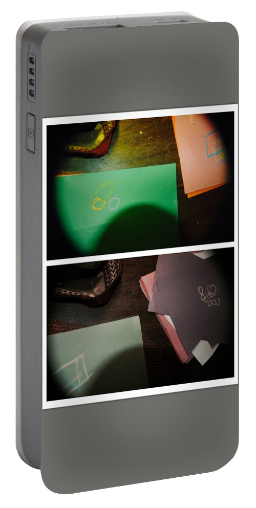 Abstract Portable Battery Charger featuring the photograph Testimony by Alwyn Glasgow