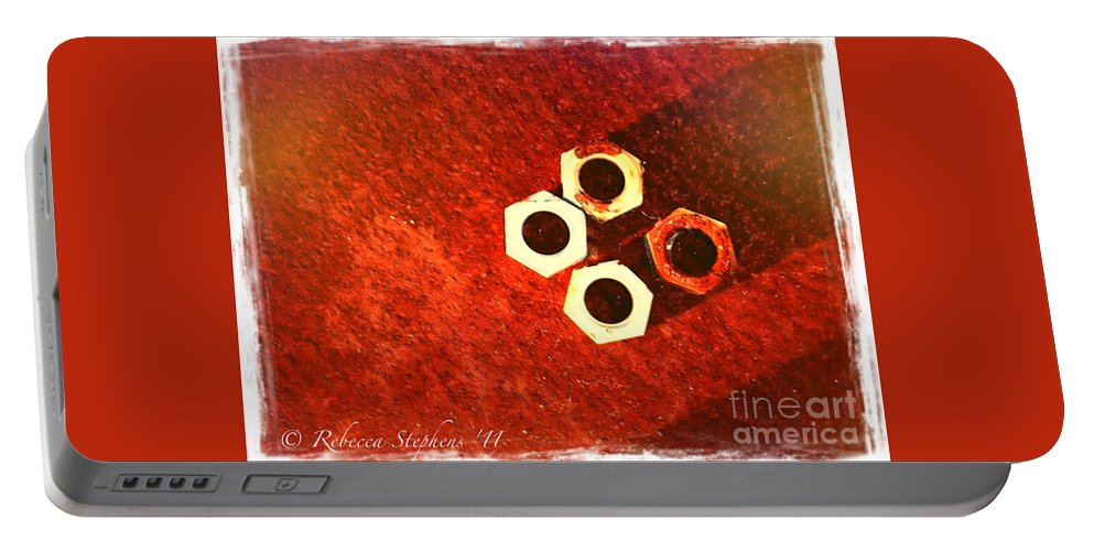 Bolts Portable Battery Charger featuring the photograph Tetra Bolts by Rebecca Stephens