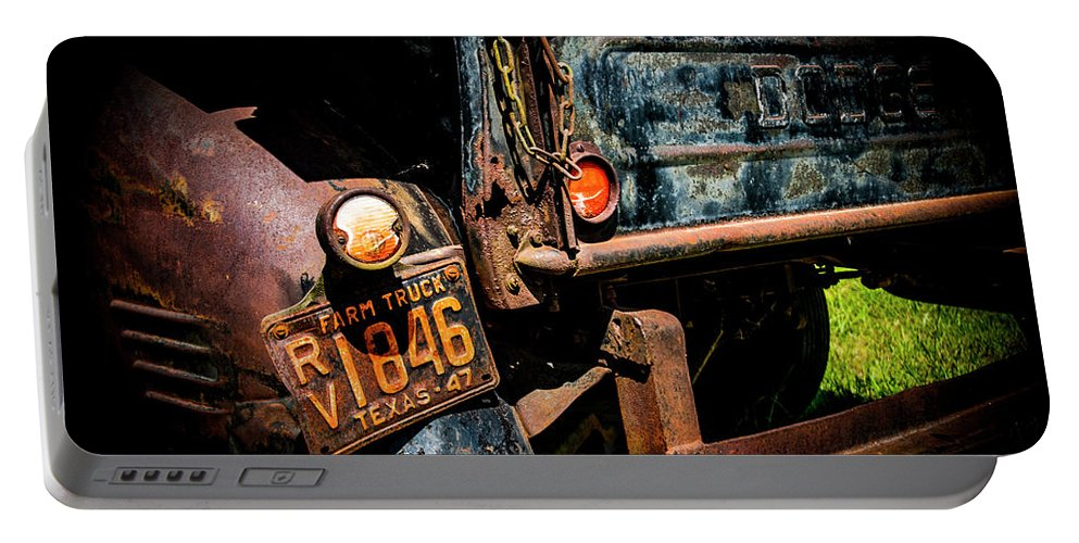 Dodge Truck Portable Battery Charger featuring the photograph Texas 47 by Ed Ostrander