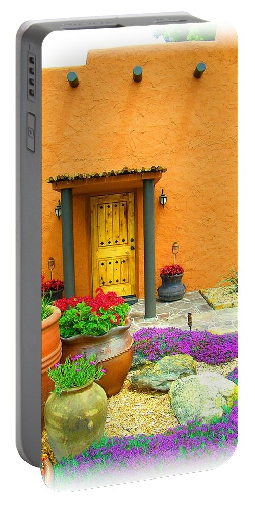 Adobe Portable Battery Charger featuring the photograph Texas Fiesta-style by Gale Cochran-Smith