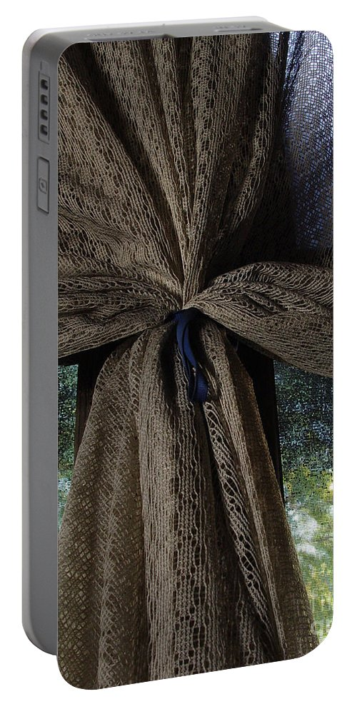 Texture Portable Battery Charger featuring the photograph Texture And Lace by Peter Piatt