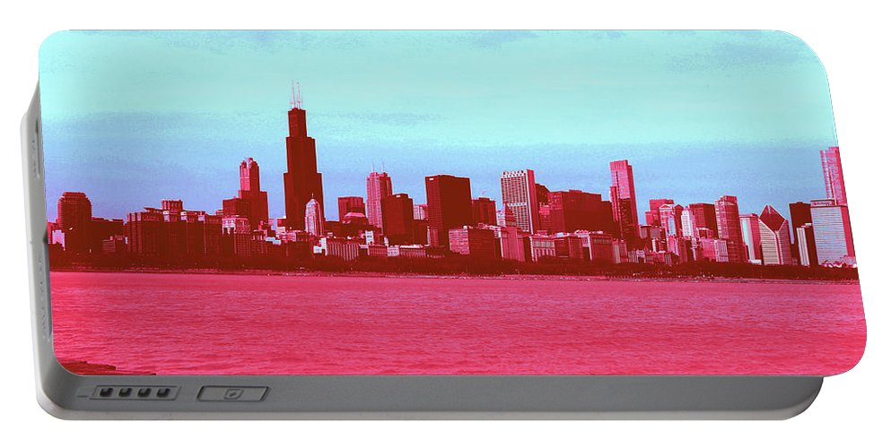 Portable Battery Charger featuring the photograph Textures Of Chicago by Andrea Schumacher