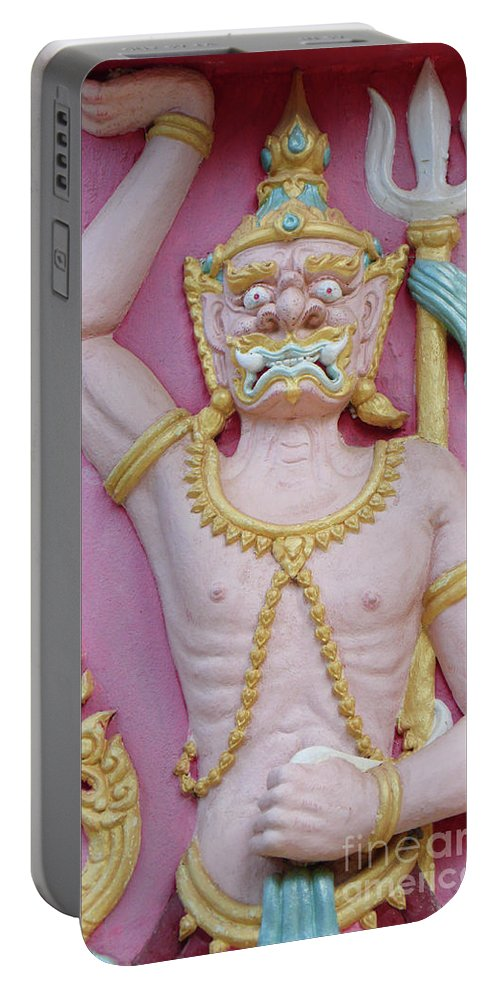 Thailand Portable Battery Charger featuring the photograph Thai Temple Art I by Charlene Mitchell