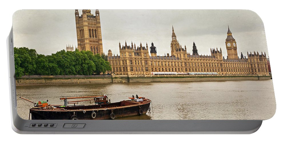 River Portable Battery Charger featuring the photograph Thames by Keith Armstrong